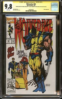 Wolverine #65 CGC 9.8 SS Signed & sketch Mark Texeira, Larry Hama, & Stan Lee NM