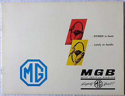 "1967 MGB ""Safety Fast"" Original Sales Brochure BMC Nuffield Exports"