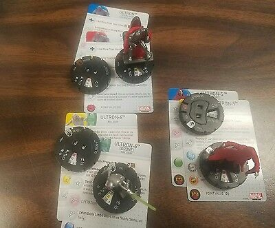 heroclix ultron chase (phalanx) and 2 other ultrons