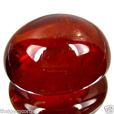 39.05Cts Shiny Oval Shape Natural Red Spessartine Cabochon
