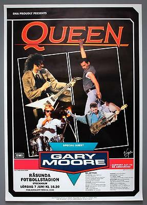 QUEEN - mega rare original Stockholm 1986 A KIND OF MAGIC concert poster