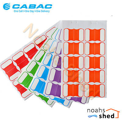 CABAC Cable Idendification Labels Tags Multi Colours 100 Pack CABLABELMC