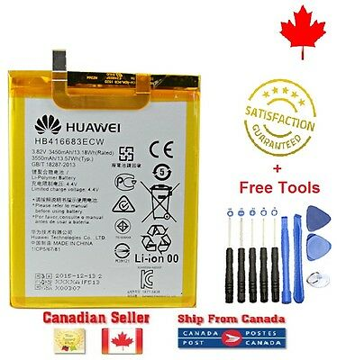 Original OEM Huawei Google Nexus 6P Internal Battery HB416683ECW 3450mAh + Tools