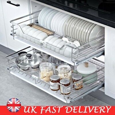350 Stainless Stell Pull Out Basert Kitchen Storage Base Unit Drawer Cupboard SU