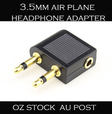3.5mm Airplane Airline Air Plane Travel Headphone Earphone Jack Audio Adapter