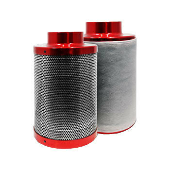 "Red Scorpion Carbon Air Filter 6"" 150x300mm Hydroponics Grow Odour Control Rhino"