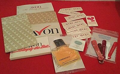COLLECTION OF 1980's UNUSED AVON STATIONARY & SALES AIDS.ORDER BOOKS.15 Items