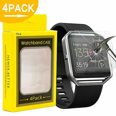 Yica Fitbit Blaze Screen Protector 4 pack
