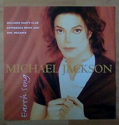 """MICHAEL JACKSON-Promotional 12"""" x 12"""" Display(Flat)EARTH SONG, ideal for framing"""