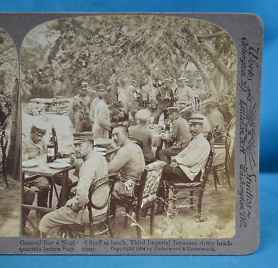 Stereoview Photo Russo-Japanese War General Baron Nogi Port Arthur China 中国
