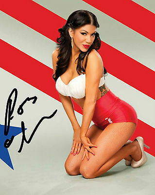 Rosa Mendes #1 (Wwe) - 10X8 Pre Printed Lab Quality Photo (Signed) (Reprint)