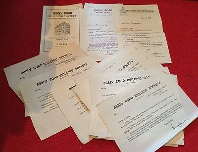 COLLECTION OF 1930/40s PAPERS.ABBEY ROAD BUILDING SOCIETY(ABBEY NATIONAL)