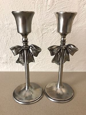 Seagull Pewter Candlesticks