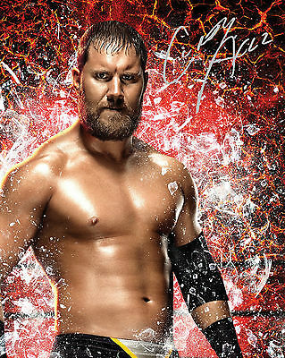 Curtis Axel #1 (Wwe) - 10X8 Pre Printed Lab Quality Photo (Signed) (Reprint)