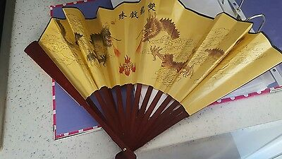 authentic chinese hand fan with assorted pouch