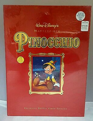 Walt Disney Masterpiece  Pinocchio Exclusive Deluxe Vhs Video Edition