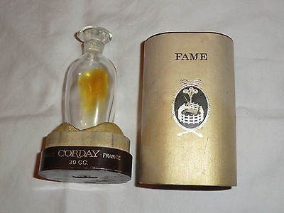 Vintage Corday Fame Fragrance Bottle In Original Box Very Pretty & Rare