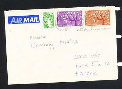 FRANCE cover 1979 Airmail to Hongrie 3 stamps