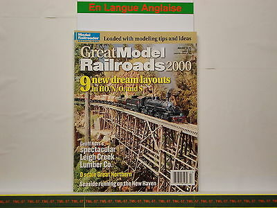 Livre MODEL RAILROADER - Great Model Railroads 2000 - 100 p