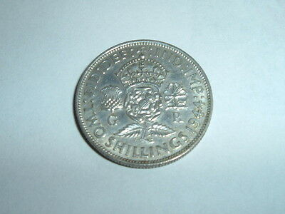 British George V1 Ww2 1944 Silver  [Two Shillings]  Silver 50%  Nice Condition