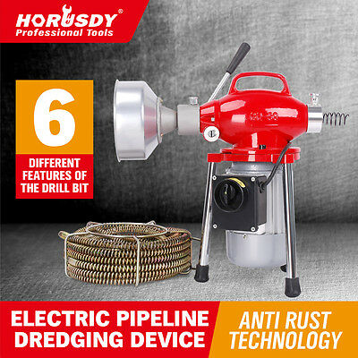 Electric Drain Cleaner Sewage Cleaning Machine Plumbing Tool For 20-110mm Pipe