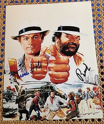 Autogramm Bud Spencer Terence Hill hand-signed autograph autografo 25'20 cm