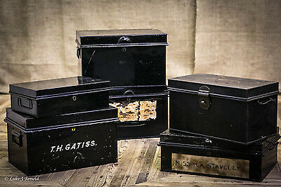 Collection of Six 19th Century Deed Boxes - Storage Boxes