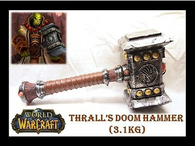 New High Quality World of Warcraft Thrall's Doom Hammer Collection Replica 3.1KG