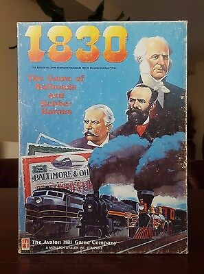 1830 Railroads and Robber Barons Avalon Hill Board Game 1986