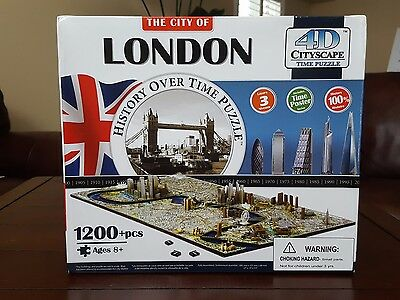 4D Cityscape City of London History Over Time 3D Puzzle