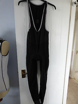 Gore Bike Wear Softshell Windstopper Padded Bib Tights Size M
