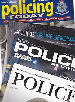 Seven Police Related Magazines x7
