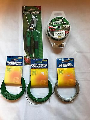 Garden Wire MIXED LOT With Pruning Sheers