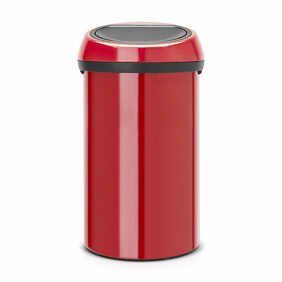 Brabantia - Poubelle Touch Bin 60 Litres Passion Red/couvercle Passion Red
