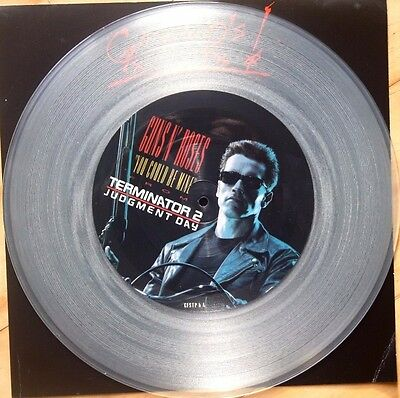 "Guns N' Roses You Could Be Mine 12"" Pic Picture Disc Clear Vinyl"