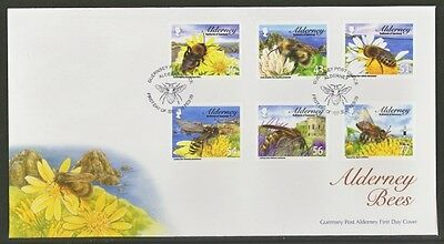 2009 Alderney First Day Cover Of Bees Stamps