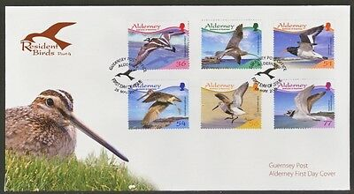 2009 Alderney First Day Cover Of Resident Birds Stamps