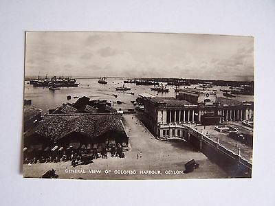 Vintage RP Postcard Ceylon General View Colombo Harbour