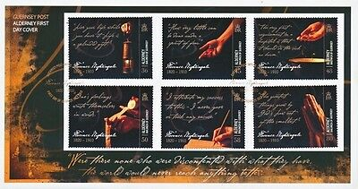 2010 Alderney First Day Cover Of Battle Of Nightingale Stamps