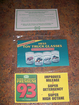 Hess Toy  Truck  Glasses Advertisements