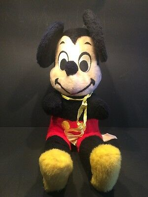 Vintage 1960s Stuffed Mickey Mouse, made by California Stuffed Toys, USA