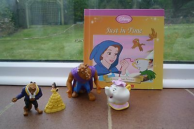 Disney Beauty and The Beast Plastic Toy figures and Book