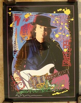 Stevie Ray Vaughan 1992 Fender Musical Instruments Limited Ed. Promo Poster SRV