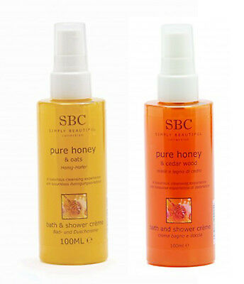 SBC Honey And Oats & Honey And Cedarwood Bath And Shower Crème 100ml DUO