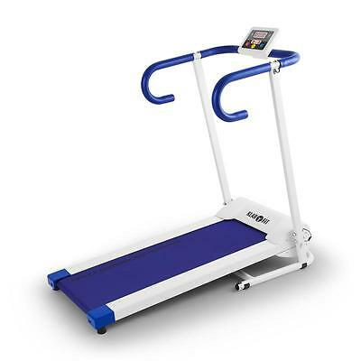 Klarfit Pacemaker X1 Treadmill Handles Electric Motor Safety Stopper White Blue