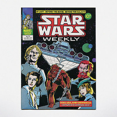 STAR WARS WEEKLY - No. 21 ( UK / 1978 ) ***VERY GOOD CONDITION***