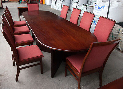 Mahogany BOARD ROOM TABLE & 10 CHAIRS Conference or Meeting Room Furniture Set