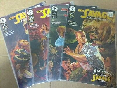 Alternative Comic lot Doc Savage Curse of the Fire God VF and bagged
