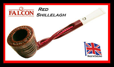 Falcon Red Shillelagh Pipe With Carved Algiers Bowl