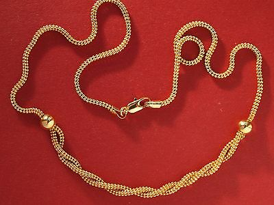 "Solid 18ct Yellow Gold Fancy Link Chain Necklace 18"" long"